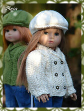 "Knitting Pattern Bria textured sweater/cardigan only for 18"" American Girl dolls"