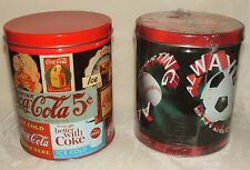 1990s Coca-Cola Coke Pair Of Tins One Sealed Puzzle Other Is Old Caramel Corn