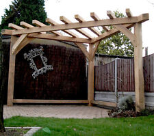 OAK PERGOLA HANDMADE Corner gazebo, Wood, garden furniture, garden shelter
