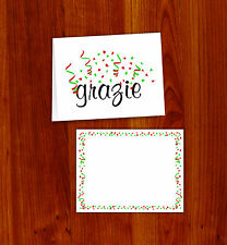 GRAZIE CARDS - ITALIAN THANK YOU CARDS 20 PACK with ENVELOPES!