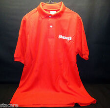 """VINTAGE SHAKEY""""S PIZZA PARLOR - Logo Red Uniform Shirt SIZE LARGE- NEW OLD STOCK"""