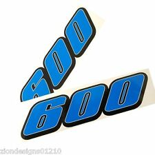 600 gsxr srad  motorcycle decals custom graphics stickers x 2 BLUE