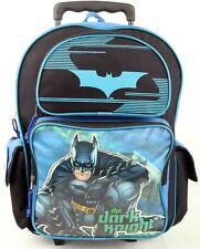 "Brand New Batman: Dark Knight 16"" LARGE ROLLING BACKPACK For Boys - USA SHIP!"