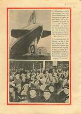 LZ 129 Hindenburg Zeppelin Friedrichshafen Bodensee Germany 1936 ILLUSTRATION
