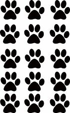 Set of 15  Paw Print Vinyl Decal Stickers, Ideal for walls,Cars,Fridges, etc