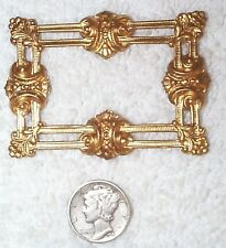 VINTAGE STUNNING OPEN CUT WORK BRASS LARGE JEWELRY STAMPINGS FINDINGS 4 PCS