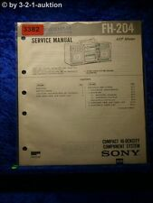 Sony Service Manual FH 204 Compact Component System (#3382)