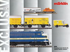 Märklin Exclusiv 4 95 Prospekt catalog Marklin model railways prospectus 1995
