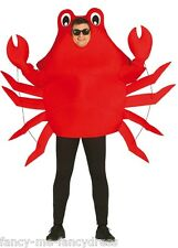 Mens Ladies Red Crab TV Cartoon Film Animal Stag Do Fancy Dress Costume Outfit