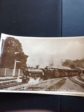 Postcard Unused Leaving Hythe Station Railway Romney Real Photograph Old  M1400