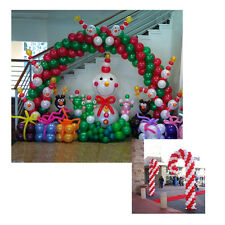 CHRISTMAS BALLOON ARCH & 2 CANDY CANE  FRAME, USE AIR FILLED BALLOONS NO HELIUM
