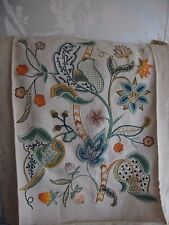 antique vintage hand embroidery Jacobean style