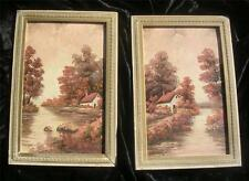2 Beautifull Oil on Bord Painting s by Joseph Collazzi Country Cottage Landscape