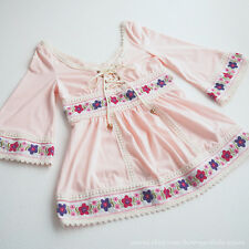 LIZ LISA Spring Lace-up Floral OP Tunic Dress Hime gyaru Lolita Japan