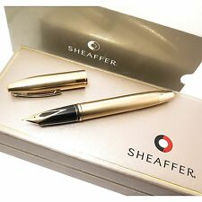 Sheaffer Legacy 2 Large brushed Gold Filled Fountain Pen New in box