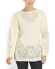 NWT VALENTINO Made In Italy Ivory And Lace Sweater  Size M $2600