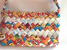 Purse Candy Gum Wrapper Craft Handbag Metallic Folded Interlocked Small Recycle