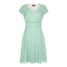 %Fever London Amalfi Polka Dot Kleid aqua M/L Uk12