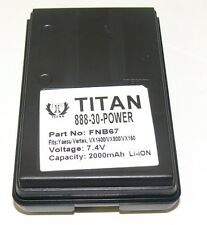 Tank FNB-V67LI Li-ion Battery For YAESU VERTEX VX-160 VXA-210 VX-410 FT-60R