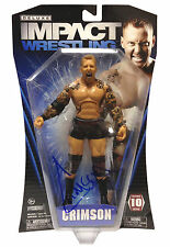 Official TNA Wrestling Deluxe Impact Series 10 Crimson Figure * Hand Signed *