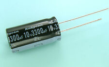 4pcs Rubycon ZL 3300uf 10v Radial Electrolytic Capacitor 105C  (12.50mm x 25mm)