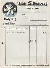 VLOTHO a. d. Weser, Rechnung 1928, Lack- u. Farben-Großhandlung Max Silberberg