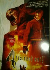 Resident Evil 4 standee promo unused video game advertisement cardboard cutout