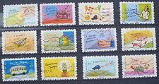 Lot de 12 timbres oblitérés FRANCE 2014 Environnement