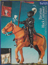 PEGASO MODELS 54-515 - BAVARIAN BLACK CUIRASSIER 1619 - 54mm WHITE METAL NUOVO