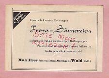 SOLINGEN-WALD, Werbung 1942, Max Frey Samen-Züchterei Freya-Sämereien