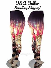 Women's Skinny Colorful Animal Print Leggings Stretchy Sexy Jeggings Tight Pants