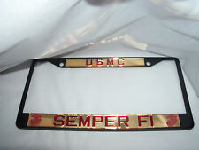 United States Marine Corps, USMC, Military, License Plate Frame Brand New!