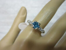 STUNNING ESTATE PLATINUM .95 CTW FANCY BLUE DIAMOND RING !!!!!!!!