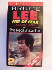 Real Bruce / Fist of Fear VHS Bruce Lee VHS Video Tape Box Set Lot