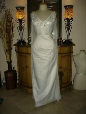 NWT White Jessica McClintock Strapless Embroidered Wedding/Formal Gown Size 8