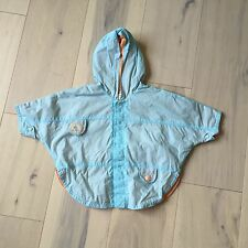 Catimini Baby Mini Blue & Orange Hooded Lightweight Rain Jacket 6M