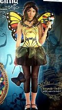 NEW BATTERFLY MASQUERADE FAIRY TEEN HALLOWEEN COSTUME, SIZE L (10-12), MSRP $50