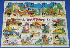 TRES RARE GUERRE 39-45 1944 LIBERATION PLANCHE CARTONNEE RESISTANCE LECLERC FFI