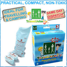TravelJohn Junior for children Disposable Urine Bags Emergency Toilet 3 Pack