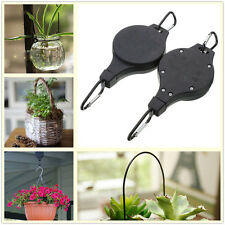 2Pcs Garden Easy Reach Plant Pulley Hook Light Flowerpot Hanger Height-adjust