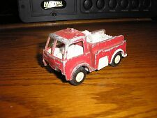 """RARE Vintage 1/43 ? 3 5/8"""" Tootsie Toy Fire Engine Rescue Equipment Truck RED"""