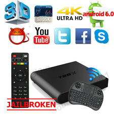 4K S905X T95X 1G+8G Smart TV Box Android 6.0 Quad Core WIFI Loaded+Free Keyboard