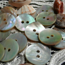 10mm Natural Mother of Pearl Round Shell 2 Holes Sewing Buttons 100PCS/LOT FG