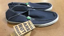 Sanuk Men's Navy Standard Slip-on Canvas Lightweight Vegan Shoes NEW Navy Sz 9