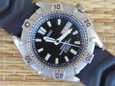 RARE SEIKO 7S26-0150 200M DIVER DIVERS AUTO AUTOMATIC TITANIUM WATCH BOXED SET