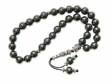 B-0052 - Handmade Prayer Worry Beads Tasbih 10mm Hematite Gemstone Beads