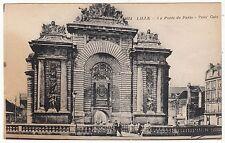 CARTE POSTALE LILLE LA PORTE DE PARIS  COUPURE BAS DROITE