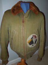 WWII 20th USAAF 678th Bomb Group B-15 Flight Jacket Painted Size 40 Uniform