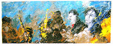 Francesco Toraldo Serigrafia Polimaterica 30 x 70 a 52 colori Jazz Live !