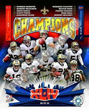 2010 New Orleans Saints NFL Super Bowl XLIV Champions 8 x 10 Photo